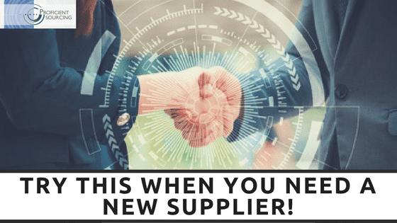 New Supplier