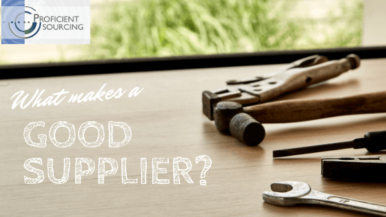 What Makes a Good Supplier?